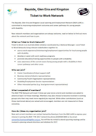 Guide to how to join the Bayside Glen Eira Kingston Ticket To Work Network.