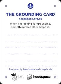 Grounding Anxiety Manangement